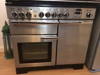 Rangemaster Professional Deluxe 100 Dual Fuel Range Cooker - nearly new