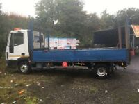 Iveco eurocargo 75e16 drive up plant dropside recovery truck not tilt and slide