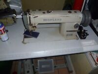 WALKING FOOT INDUSTRIAL HIGHLEAD SEWING MACHINE( Ideal for leather, upholstery,)
