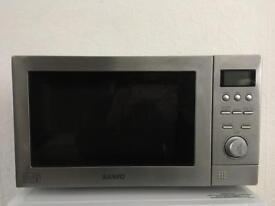 Sanyo Digital Microwave Oven With Grill Silver Full Working Order