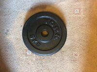 York 5kg metal weight plates x 4