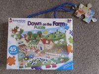 "45-piece Jigsaw Puzzle – ""Down on the Farm"" - £5 o.n.o"