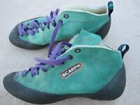 Scarpa rock climbing shoes size 5 1/2