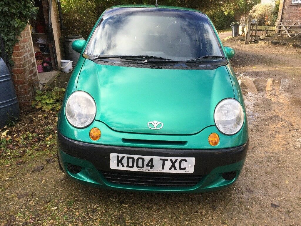 Daewoo Matiz, 5 Door, Hatch, Petrol, Manual. Excellent condition. MOT until May 2018. Green.