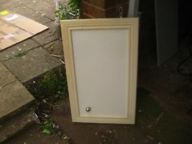 Pair of sliding doors and three cupboard doors
