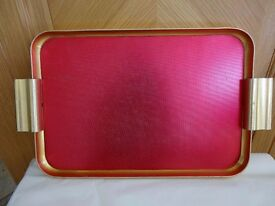 WOODMET METAL SERVING TRAY - VINTAGE RETRO