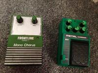 2 old school guitar effects pedals