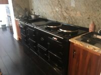 4 oven Aga (electric with AIMS) and module (electric oven and gas hob).