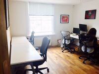 Desk space to rent in a creative agency