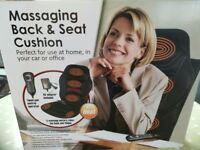 Massaging back and seat cushion