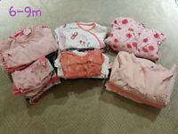 Baby girl clothes bundle 6-9m