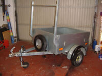 Broniss trailer year old as new condition LEDs ladder rack jockey wheel not Ifor williams or Nugent