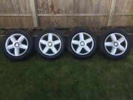 "16"" Seat Alloy Wheels + Tyres 5x112"