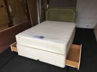 MYERS 4ft 6' Double storage Divan bed (FREE DELIVERY)