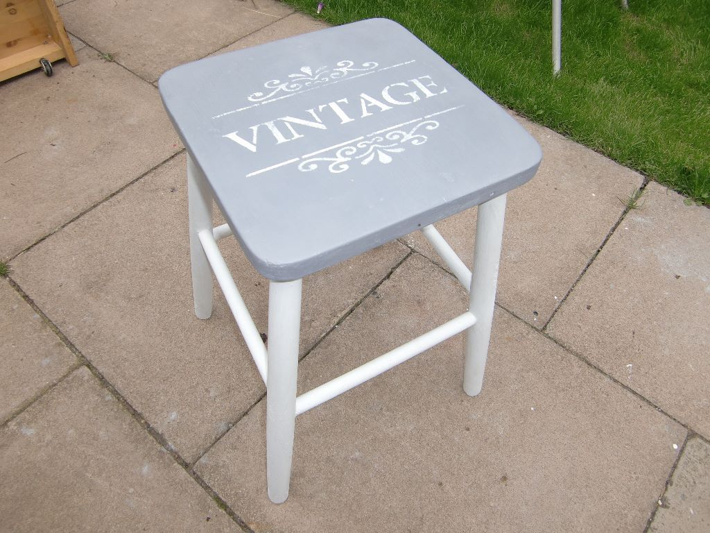 shabby chic stool in leicester leicestershire gumtree. Black Bedroom Furniture Sets. Home Design Ideas