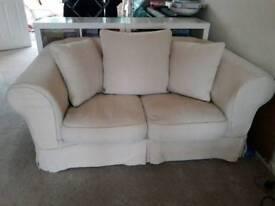 2 seater sofa in cream