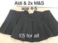 School uniform grey skirts