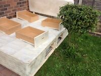 King size bed frame with 4 drawers and head board