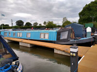 * SOLD * 58ft Cruiser Stern Narrowboat Silver Saturn for sale