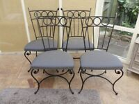 Metal Dining Chairs x4