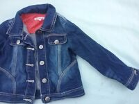 Girls Blue Zoo Denim jacket sized 4-5 yrs. Only worn once.