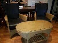 Cane Chair and Table set