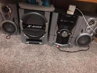 Sharp full sound system. 2 speakers and Subwoofer.