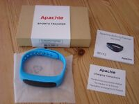 Brand new in box. Turquoise Apachie Sports Tracker with instructions. Never used,unwanted gift. £10.