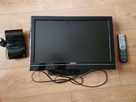 Small Toshiba TV/ DVD with remote