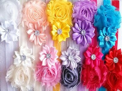 10pcs Flower Baby Toddler Girl Princess Headband Hair Bow Band Accessories