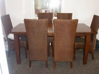 Lloyd Loom Extenable With 6 Chairs