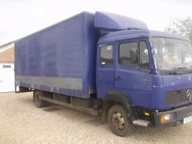 mercedes 814 box van 7500 kg