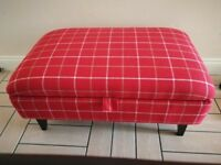 DFS Red Tranquil Footstool with storage compartment *RRP £598*
