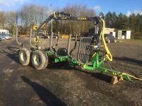 Farma 6 ton timber grab trailer