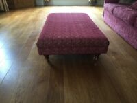 Bespoke made large foot stool
