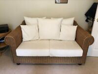 Wicker 2 seater sofa made by Hemelaer