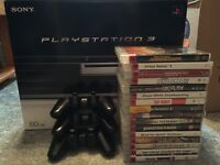 Sony PlayStation 3 60gb (PS3), 16 Games and 3 Controllers - Open to Offers
