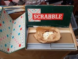 Scrabble. Vintage collectible strategy family game.