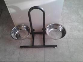 Feeding bowls and stand