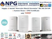 SUPPLY & INSTALL Worcester Bosch Greenstar 30i ErP Combi ONLY £999(RRP £4K) LIMITED OFFER Birmingham