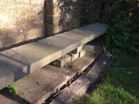 Grey Stone slab length fireplace shelf