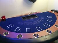 Blackjack Table with Chip Tray, Discard Holder and Shoe (and 4 chairs)