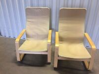 2x IKEA chairs - comfy and nice chairs in good condition