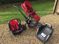 Jané Trider pushchair, car seat and Isofix base travel system