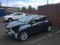 RENAULT CLIO 2016 NAV DYNAMIQUE DCI (66) UNRECORDED DAMAGED SALVAGE