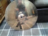"Pre owned Zildjian K 17"" Custom Fast Crash brilliant finish."