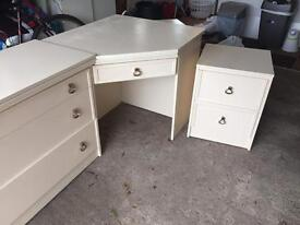 Bedroom drawers and side tables.
