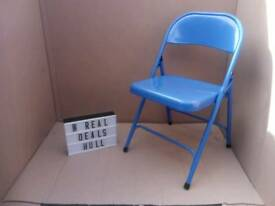 Ex displays blue habitat folding chairs RRP £12 each