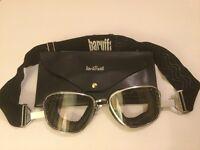 Baruffaldi motorcycle goggles and case.