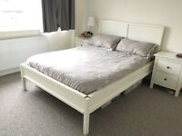 Double Bed : Ikea Trondheim WHITE